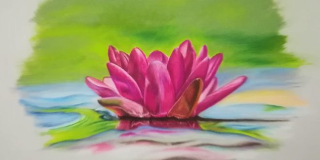 13-06-18 – Water Lily colour sketch